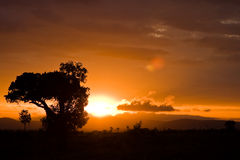 Nascer do sol 2 de Kimana imagens de stock royalty free