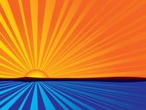 Nascer do sol abstrato ilustração do vetor