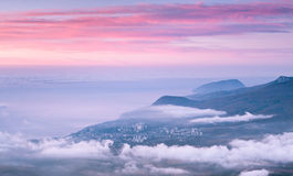 Nascer do sol acima do mar Foto de Stock Royalty Free
