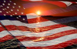 Nascer do sol América Imagem de Stock