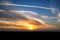 Nascer do sol atmosférico fotografia de stock