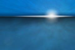 Nascer do sol atmosférico do oceano ilustração stock