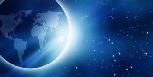 Nascer do sol azul Imagem de Stock Royalty Free