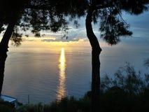 Nascer do sol bonito foto de stock