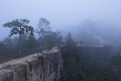 Nascer do sol bonito acima da névoa em Yun Lai Viewpoint, Pai Thail fotos de stock royalty free