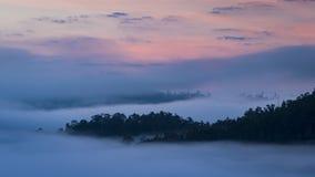 Nascer do sol bonito acima da névoa em Yun Lai Viewpoint, Pai Thail imagem de stock royalty free