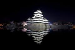 Nascer do sol bonito com o Matsumoto em Japão Imagens de Stock