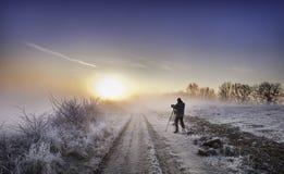 Nascer do sol bonito da manhã Foto de Stock Royalty Free
