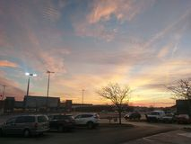 Nascer do sol bonito de dezembro em Lafayette Indiana Imagem de Stock Royalty Free