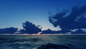 Nascer do sol bonito de HD sobre o oceano filme