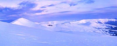 Nascer do sol bonito do inverno Fotografia de Stock