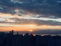 nascer do sol bonito em Baki foto de stock royalty free