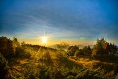 Nascer do sol bonito em Doi Intanon Fotos de Stock