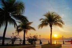 Nascer do sol bonito em langkawi Imagem de Stock