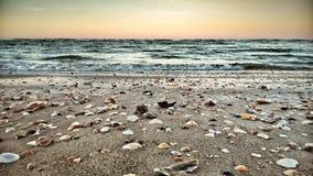 Nascer do sol bonito na praia Imagem de Stock Royalty Free