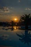 Nascer do sol bonito sobre o mar Fotos de Stock Royalty Free