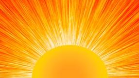 Nascer do sol brilhante ilustração royalty free
