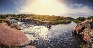 Nascer do sol, cachoeira fotografia de stock royalty free