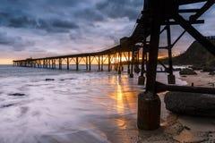 Nascer do sol do cais de Catherine Hill Bay Foto de Stock Royalty Free