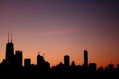 Nascer do sol Chicago Imagens de Stock