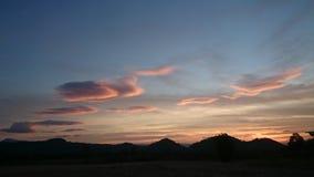 Nascer do sol colorido Imagem de Stock Royalty Free