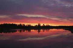 Nascer do sol colorido Fotografia de Stock