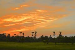 Nascer do sol colorido no alvorecer Fotografia de Stock