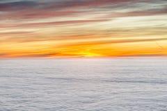 Nascer do sol com nuvens Foto de Stock