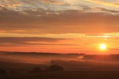 Nascer do sol com paisagem Foto de Stock