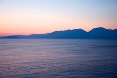 Nascer do sol cor-de-rosa. Imagens de Stock