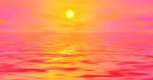 Nascer do sol cor-de-rosa Fotos de Stock Royalty Free