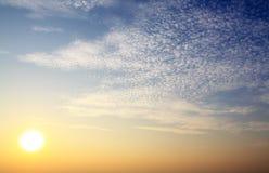 Nascer do sol da beleza Foto de Stock Royalty Free