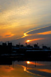 Nascer do sol da cidade Foto de Stock