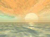 Nascer do sol da fantasia fotografia de stock royalty free