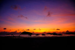 Nascer do sol da ilha de Redang imagens de stock royalty free