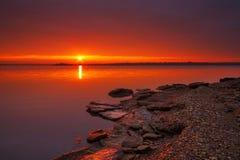 Nascer do sol da linha costeira Fotografia de Stock
