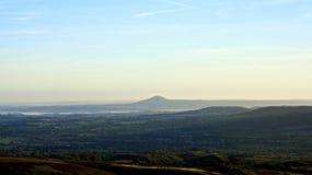 Nascer do sol da manhã de Shropshire imagem de stock