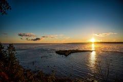Nascer do sol da manhã sobre a baía Georgian Fotografia de Stock