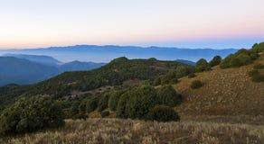 Nascer do sol da montanha Imagem de Stock