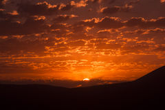 Nascer do sol da montanha Imagens de Stock