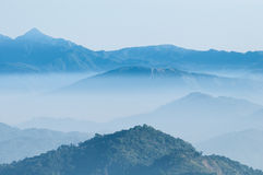 Nascer do sol da montanha da paisagem Imagem de Stock