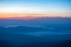 Nascer do sol da montanha da paisagem Imagens de Stock Royalty Free
