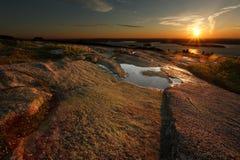 Nascer do sol da montanha de Cadillac Imagem de Stock