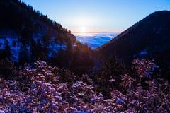 Nascer do sol da montanha de Colorado imagem de stock royalty free