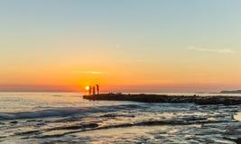Nascer do sol da picareta na ilha do filho da LY Imagem de Stock Royalty Free