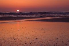 Nascer do sol da praia Imagem de Stock