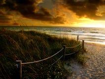 Nascer do sol da praia fotos de stock