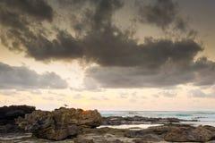 Nascer do sol da praia Foto de Stock