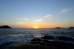 Nascer do sol da praia de BaiBuSha da montanha de Putuo Imagem de Stock Royalty Free