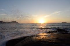 Nascer do sol da praia de BaiBuSha da montanha de Putuo Foto de Stock Royalty Free